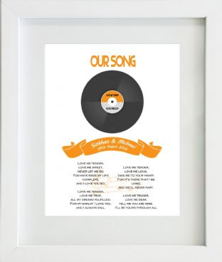 Our Song Lyrics Print